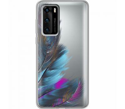 Силиконовый чехол BoxFace Huawei P40 Feathers (39747-cc48)