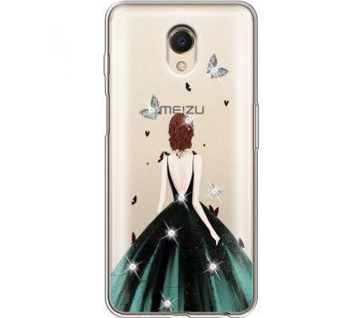 Силиконовый чехол BoxFace Meizu M6s Girl in the green dress (935011-rs13)