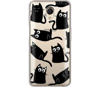 Силиконовый чехол BoxFace Meizu M6s с 3D-глазками Black Kitty (35011-cc73)