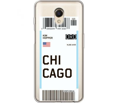 Силиконовый чехол BoxFace Meizu M6s Ticket Chicago (35011-cc82)