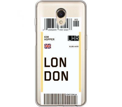 Силиконовый чехол BoxFace Meizu M6s Ticket London (35011-cc83)