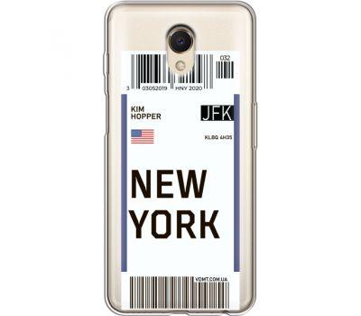 Силиконовый чехол BoxFace Meizu M6s Ticket New York (35011-cc84)