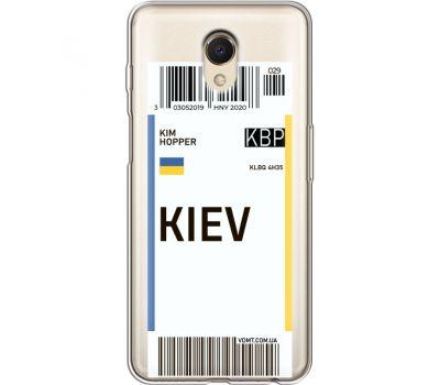 Силиконовый чехол BoxFace Meizu M6s Ticket Kiev (35011-cc88)