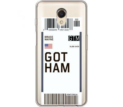 Силиконовый чехол BoxFace Meizu M6s Ticket Gotham (35011-cc92)