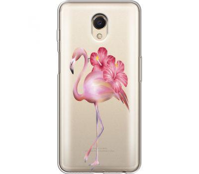 Силиконовый чехол BoxFace Meizu M6s Floral Flamingo (35011-cc12)