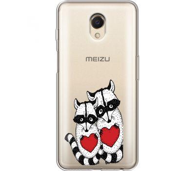 Силиконовый чехол BoxFace Meizu M6s Raccoons in love (35011-cc29)