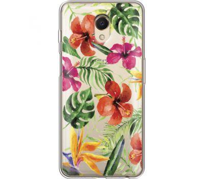 Силиконовый чехол BoxFace Meizu M6s Tropical Flowers (35011-cc43)