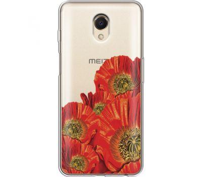 Силиконовый чехол BoxFace Meizu M6s Red Poppies (35011-cc44)
