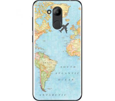 Силиконовый чехол BoxFace Huawei Honor 6C Pro Карта (33132-up2434)