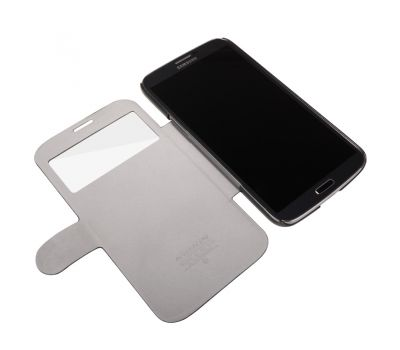 Кожаный чехол (книжка) Nillkin Fresh Series для Samsung i9200 Galaxy Mega 6.3 черный 2640