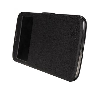 Кожаный чехол (книжка) Nillkin Fresh Series для Samsung i9200 Galaxy Mega 6.3 черный 2641