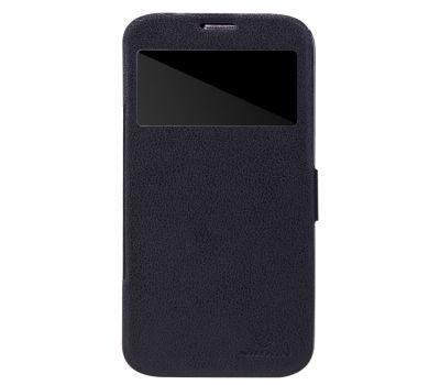 Кожаный чехол (книжка) Nillkin Fresh Series для Samsung i9200 Galaxy Mega 6.3 черный