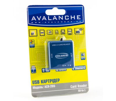 Фото №1 - Картридер для microSD карт ACR-205 синий
