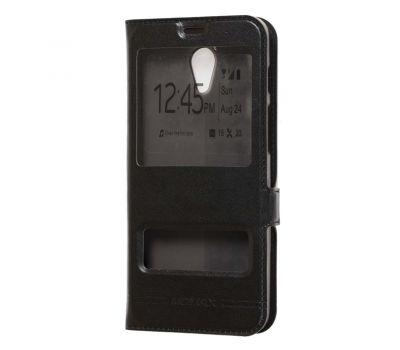 Чехол книжка для Meizu M6s Momax с двумя окнами черный
