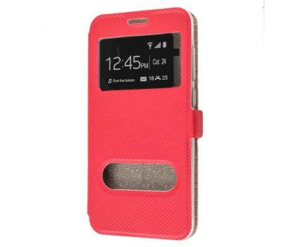 Чехол книжка для Huawei Honor 6С Pro Modern Style с двумя окнами красный