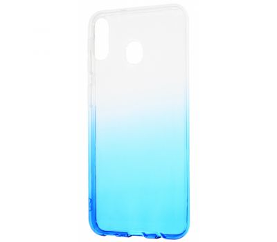 Чехол для Samsung Galaxy M20 (M205) Gradient Design бело-голубой 302485