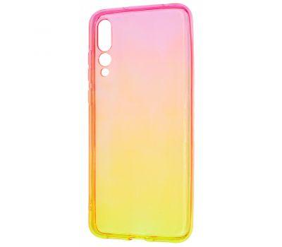 Чехол для Huawei Y6 2019 Gradient Design красно-желтый 303271