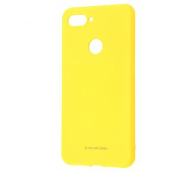 Чехол для Xiaomi Mi 8 Lite Molan Cano глянец желтый 340231