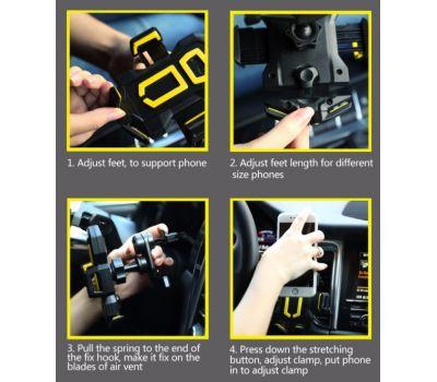 Автодержатель holder REMAX Car RM-C14 черно-серый 371590