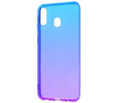 Чехол для Samsung Galaxy M20 (M205) Gradient Design фиолетово-синий 377006