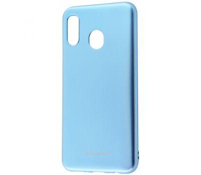 Чехол для Samsung Galaxy M20 (M205) Molan Cano глянец голубой 377474