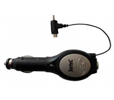АЗУ Sertec Nokia 6101+USB(рулетка)