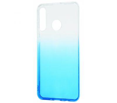 Чехол для Huawei P30 Lite Gradient Design бело-голубой 423755