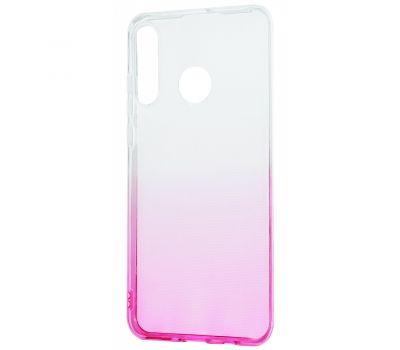 Чехол для Huawei P30 Lite Gradient Design розово-белый 423757