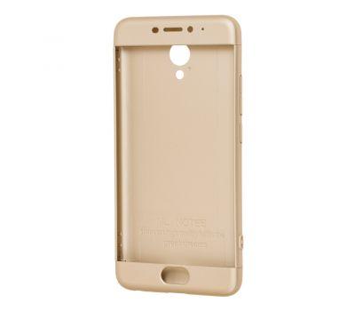 Чехол GKK LikGus для Meizu M5 Note 360 золотистый 428861
