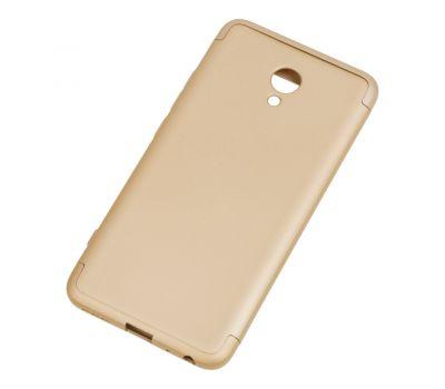 Чехол GKK LikGus для Meizu M5 Note 360 золотистый 428862