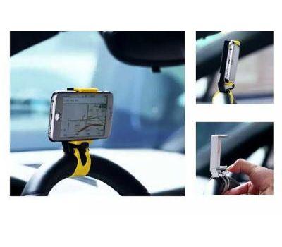 Автодержатель holder Remax Car Holder RM-C11 на руль бело - серый 440260
