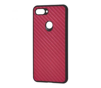 Чехол для Xiaomi Mi 8 Lite hard carbon бордовый