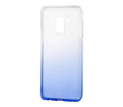Чехол для Samsung Galaxy A8 2018 (A530) Gradient Design бело-голубой