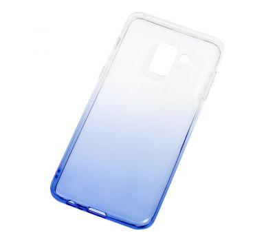 Чехол для Samsung Galaxy A8 2018 (A530) Gradient Design бело-голубой 546080