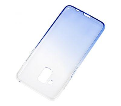 Чехол для Samsung Galaxy A8 2018 (A530) Gradient Design бело-голубой 546081