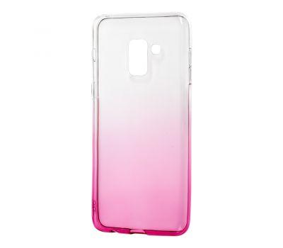 Чехол для Samsung Galaxy A8 2018 (A530) Gradient Design розово-белый