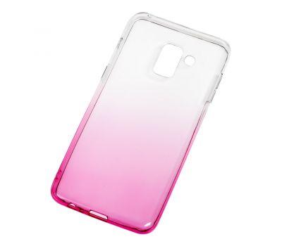Чехол для Samsung Galaxy A8 2018 (A530) Gradient Design розово-белый 546086