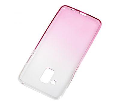 Чехол для Samsung Galaxy A8 2018 (A530) Gradient Design розово-белый 546087