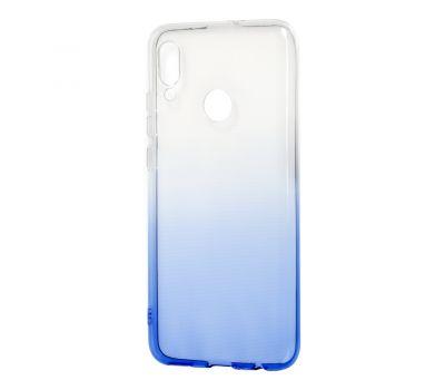 Чехол для Huawei P Smart 2019 Gradient бело-синий