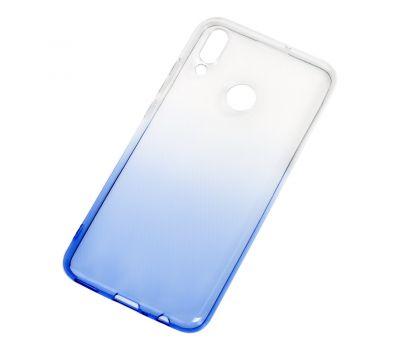 Чехол для Huawei P Smart 2019 Gradient бело-синий 570410