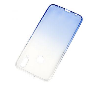 Чехол для Huawei P Smart 2019 Gradient бело-синий 570411