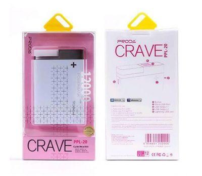 Внешний аккумулятор power bank Proda CRAVE PPL-20 12000mAh pink 58880