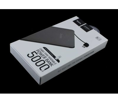 Внешний аккумулятор power bank Hoco B13 5000 mAh Card-Type Portable gray 58352