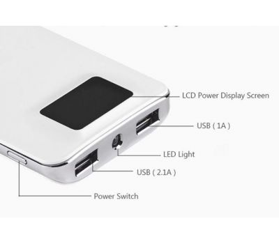 Внешний аккумулятор power bank Hoco UPB-05 10000 mAh white 58924