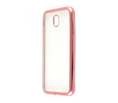 Чехол для Samsung Galaxy J5 2017 (J530) с глянцевой окантовкой розовый