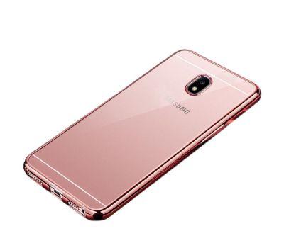Чехол для Samsung Galaxy J5 2017 (J530) с глянцевой окантовкой розовый 639691