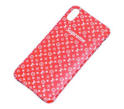 Чехол IMD для iPhone X / Xs Yang style красный supreme 659913