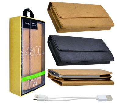Внешний аккумулятор power bank Hoco Wallet Portable 4800 mAh black 73967