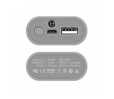 Внешний аккумулятор power bank Hoco B21 5200 mAh white 73925