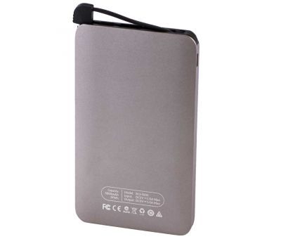 Внешний аккумулятор power bank Hoco B13 5000 mAh Card-Type Portable gray 74146